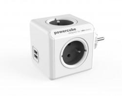 PowerCube Original 4 gniazda 2x USB szary