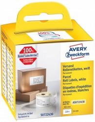Avery Zweckform Etykiety wysyłkowe w rolce do drukarek termicznych DymoTM 220 etyk./rolka 1 rolka/op. 54 x 101 mm trwałe białe