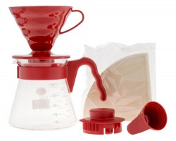 Hario zestaw V 60 Pour Over Kit RED - drip + serwer + filtry