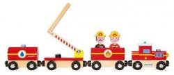 Janod Pociąg drewniany Straż pożarna