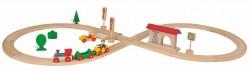 Eichhorn Kolejka Drewniana 35 elementów