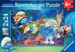 Ravensburger Smerfy - Zaginiona Dolina 2 x 24 el. RAP078189