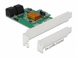 Delock karta PCI Express x1 - 4x internal SATA