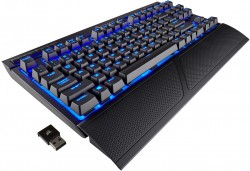 Corsair Gaming K63 Wireless Blue LED - Cherry MX Red