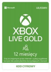 Microsoft Xbox Live Gold 12 miesięcy - wersja cyfrowa ESD