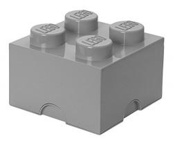 Lego Storage Brick 4 szary