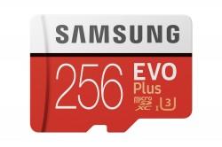 Samsung EVO PLUS microSDXC 256GB UHS-I U3 [Zapis 90MB/s Odczyt 100MB/s]