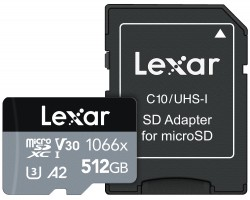 Lexar 512GB microSDXC High-Performance 1066x UHS-I C10 A2 V30 U4