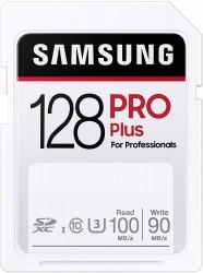 Samsung PRO Plus SDXC 128GB UHS-I U3 [Zapis 90MB/s Odczyt 100MB/s]