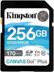Kingston SDXC Canvas Go Plus 256GB 170R C10 UHS-I U3 V30