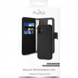 Puro Wallet Detachable - etui 2w1 iPhone 12 / iPhone 12 Pro czarny