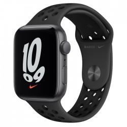 Apple Watch Nike SE GPS 44mm aluminium, gwiezdna szarość   antracyt czarny pasek sport.