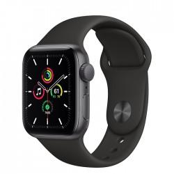 Apple Watch SE GPS 40mm aluminium, gwiezdna szarość   czarny pasek sportowy