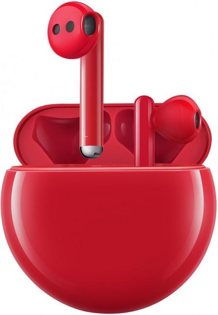 Huawei FreeBuds 3 Czerwone - zdjęcie główne