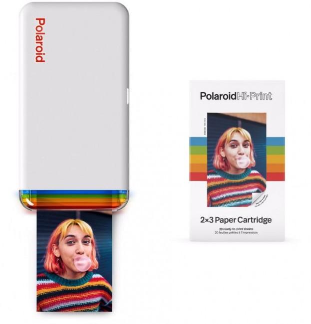 Polaroid HI-PRINT Pocket Printer + 1x Cartridge - zdjęcie główne