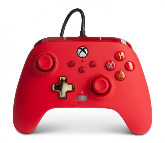 PowerA Xbox Pad przewodowy Enhanced Czerwony - zdjęcie główne