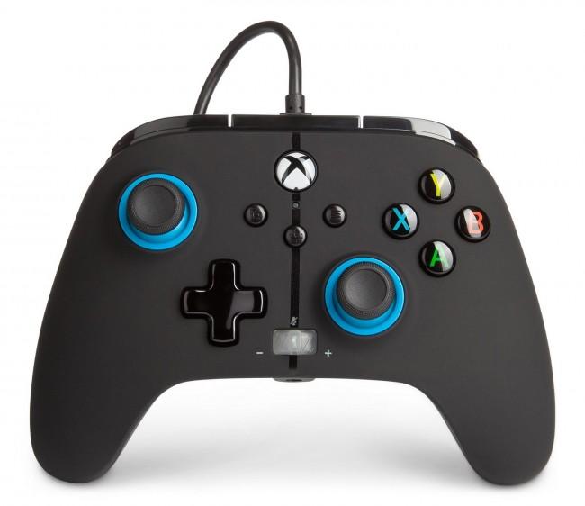 PowerA Xbox Pad przewodowy Enhanced Blue Hint - zdjęcie główne