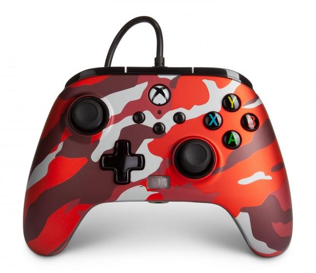PowerA Xbox Pad przewodowy Enhanced Metallic Red Camo - zdjęcie główne