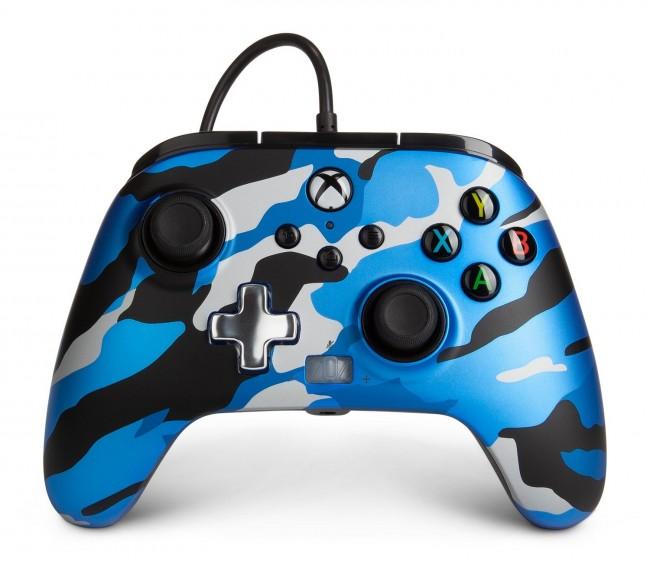 PowerA Xbox Pad przewodowy Enhanced Metallic Blue Camo - zdjęcie główne
