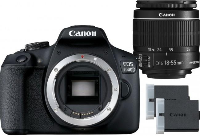 Canon EOS 2000D + obiektyw EF-S 18-55mm IS II + LP-E10 - zdjęcie główne