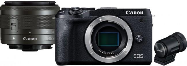 Canon EOS M6 II obiektyw EF-M 15-45mm IS STM + wizjer elektroniczny - zdjęcie główne