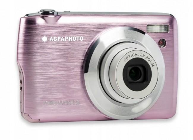 Agfa Photo DC8200 Różowy + etui + karta SD 16GB - zdjęcie główne