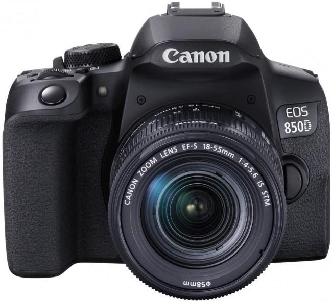 Canon EOS 850D + obiektyw EF-S 18-55mm f/4-5.6 IS STM - zdjęcie główne