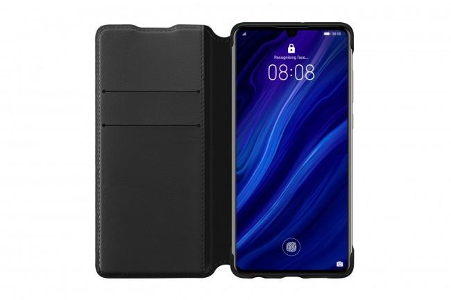 Huawei Wallet Cover do P30 czarny - zdjęcie główne