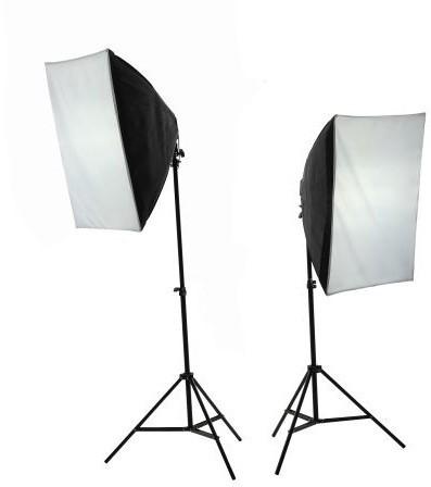 Massa 2x Lampa Światła Ciągłego + Softbox 50x70 +8x 400W - zdjęcie główne