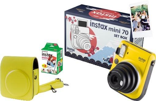 Fujifilm Instax Mini 70 żółty + etui żółte + wkład 2 pack - zdjęcie główne