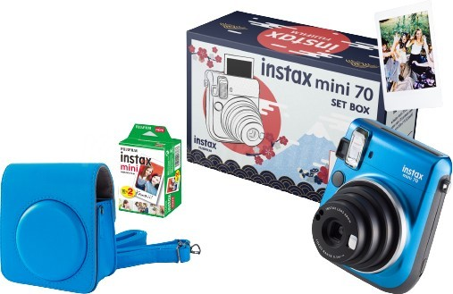 Fujifilm Instax Mini 70 niebieski + etui niebieskie + wkład 2 pack - zdjęcie główne