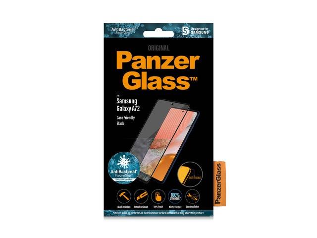 PanzerGlass Samsung Galaxy A72 antybakteryjne czarny - zdjęcie główne