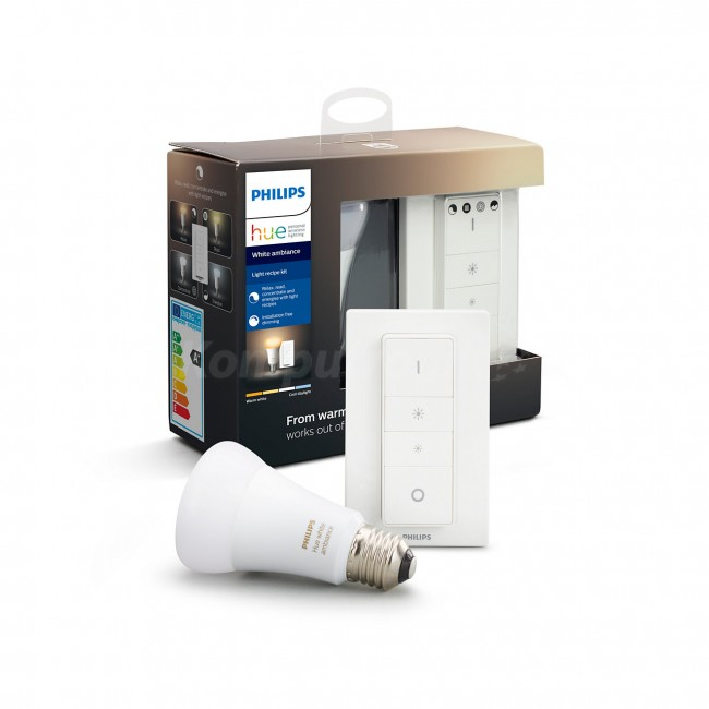 Philips Hue zestaw grzybek E27 WA 9,5W BT + przełącznik - zdjęcie główne