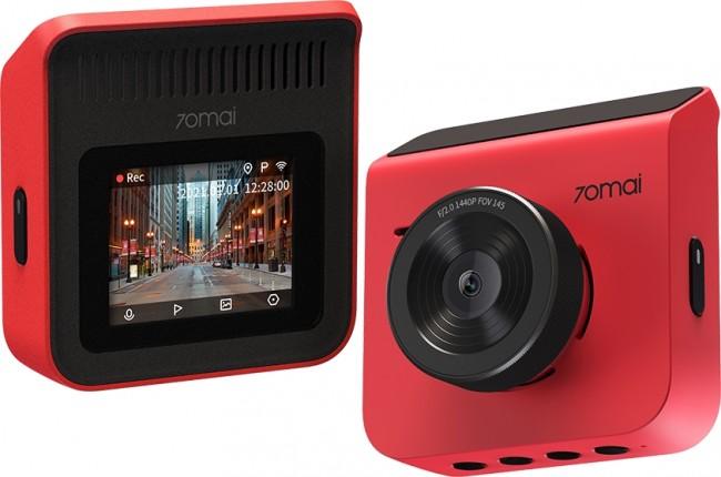 70mai Dash Cam A400 +Rear Cam RC09 Set Red - zdjęcie główne