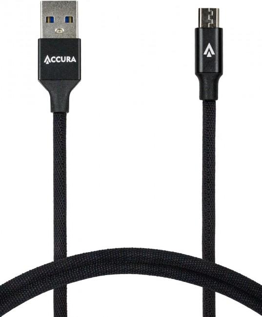 Accura micro USB 1.0m czarny - zdjęcie główne