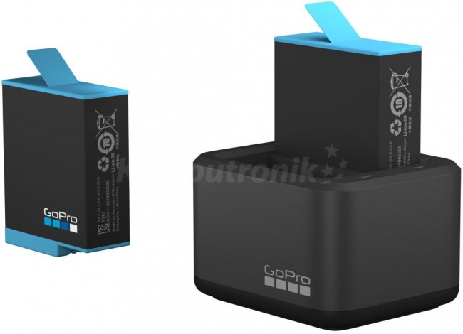 GoPro Dual Battery Chgr + Battery (H9 BLK) - zdjęcie główne