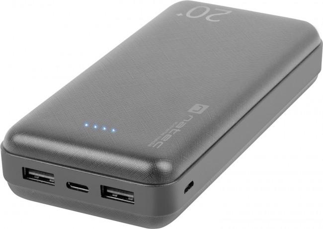 Natec Power Bank Extreme Media Trevi 20000 mAh 2X USB-A + 1X USB-C czarny - zdjęcie główne