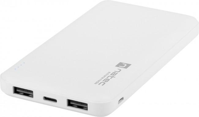 Natec Extreme Media Trevi 10000 mAh 2X USB-A + 1X USB-C biały - zdjęcie główne