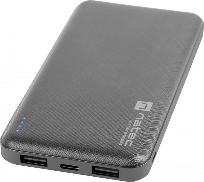 Natec Extreme Media Trevi 10000 mAh 2X USB-A + 1X USB-C czarny - zdjęcie główne