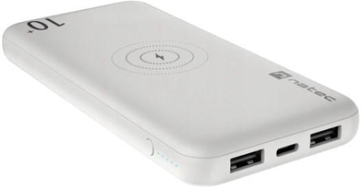 Natec Power Bank Extreme Media Trevi Wireless 10000 mAh 10W biały - zdjęcie główne