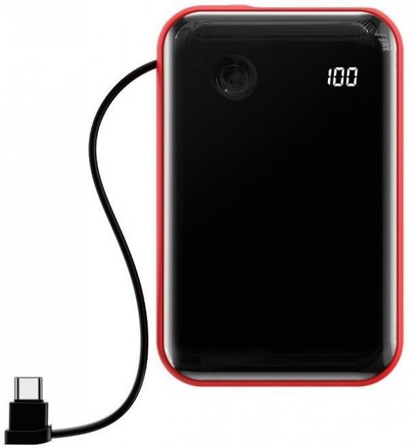 Baseus Powerbank Mini S z kablem USB-C 10000mAh 3A 15W czerwony - zdjęcie główne