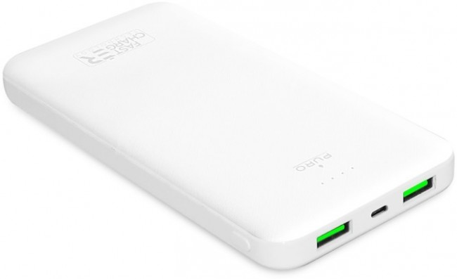 Puro White Fast Charger 10000 mAh 2 x USB-A + 1 x USB-C biały - zdjęcie główne