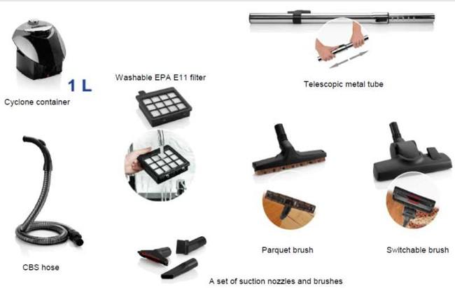 staubsauger ohne beutel zelmer eco pluser zvc265sp elektronik komputronik de. Black Bedroom Furniture Sets. Home Design Ideas