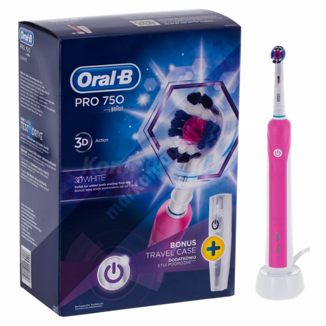 oral b pro 750 pink cena raty sklep. Black Bedroom Furniture Sets. Home Design Ideas