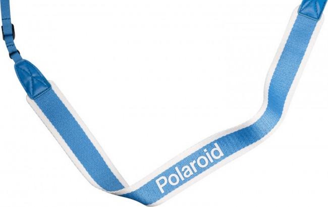 POLAROID CAMERA STRAP FLAT BLUE STRIPE - zdjęcie główne