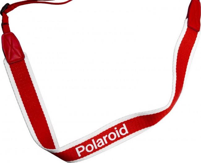 POLAROID CAMERA STRAP FLAT RED STRIPE - zdjęcie główne