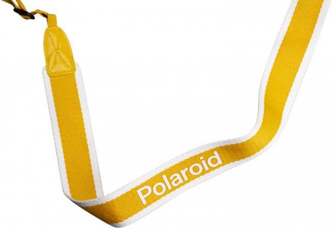 POLAROID CAMERA STRAP FLAT YELLOW STRIPE - zdjęcie główne