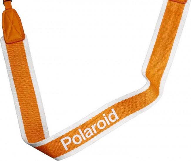 POLAROID CAMERA STRAP FLAT ORANGE STRIPE - zdjęcie główne