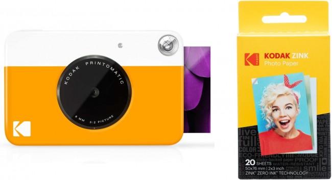 Kodak Printomatic + Opakowanie wkładów na 20 zdjęć - żółty - zdjęcie główne