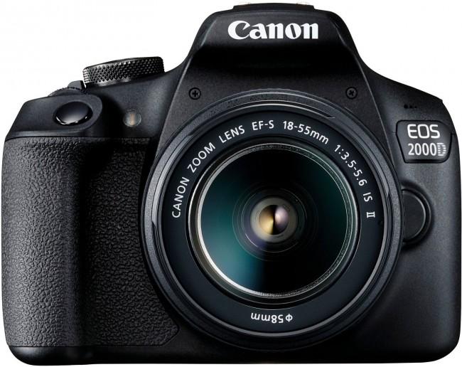 Canon EOS 2000D + obiektyw EF-S 18-55 IS II - zdjęcie główne